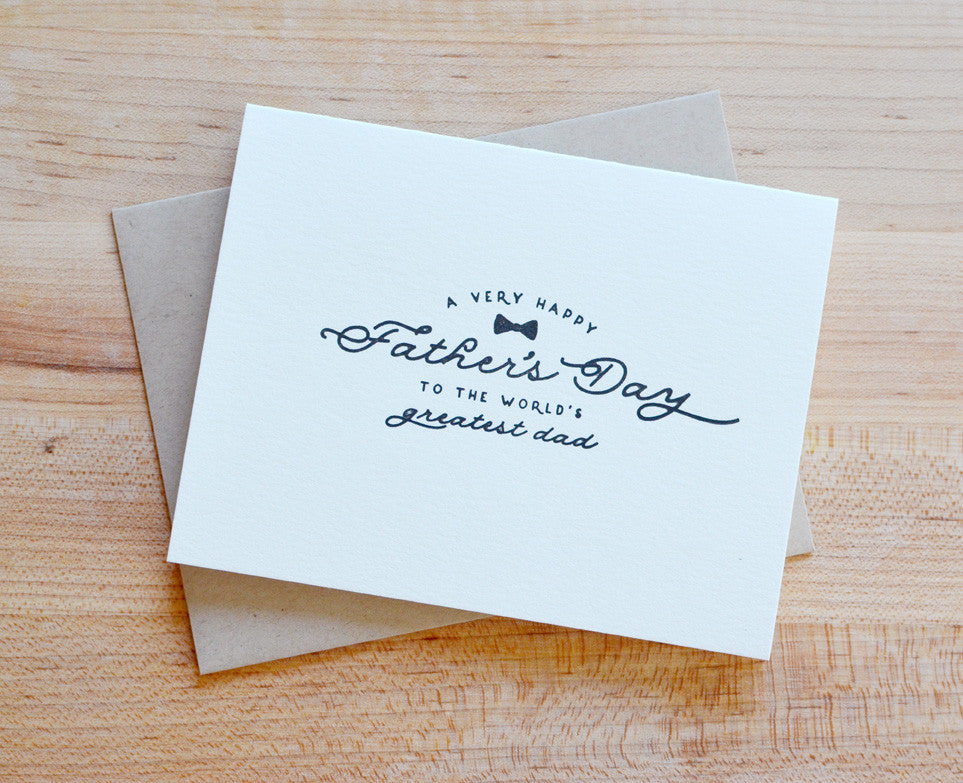World's Best Father Father's Day Letterpress Card