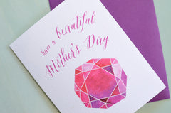 Mother's Day Gem Greeting Card