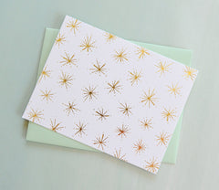 Gold Foil Fireworks Note Cards