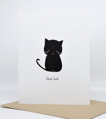 good luck black cat card