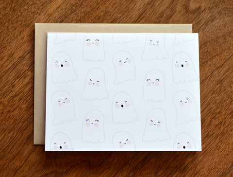 Friendly Ghosts Halloween Card