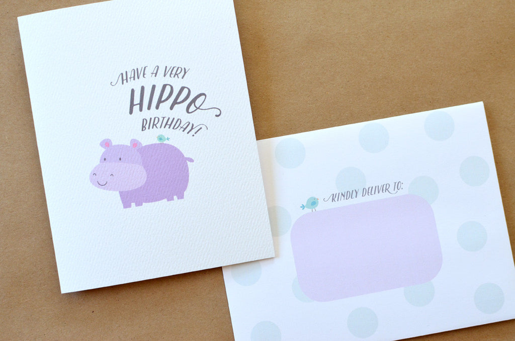 Hippo birthday card pennie post hippo birthday card bookmarktalkfo Image collections