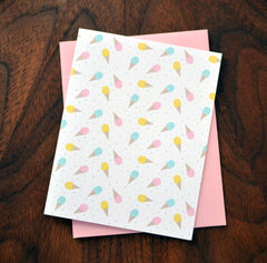 ice cream and sprinkles pattern card