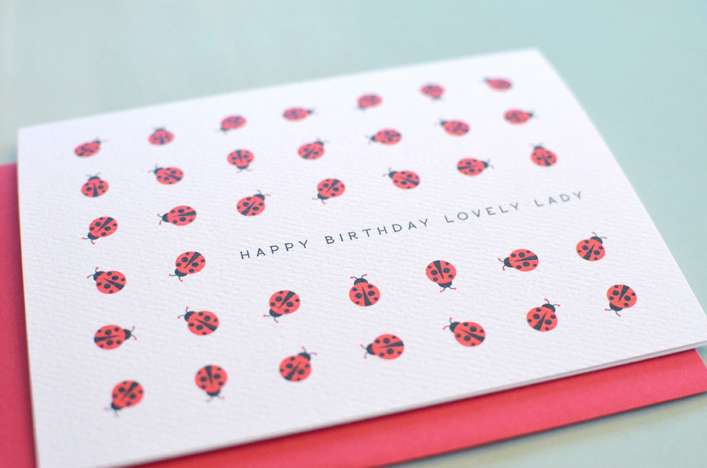 Lovely Ladybug Birthday Card Pennie Post – Ladybug Birthday Cards