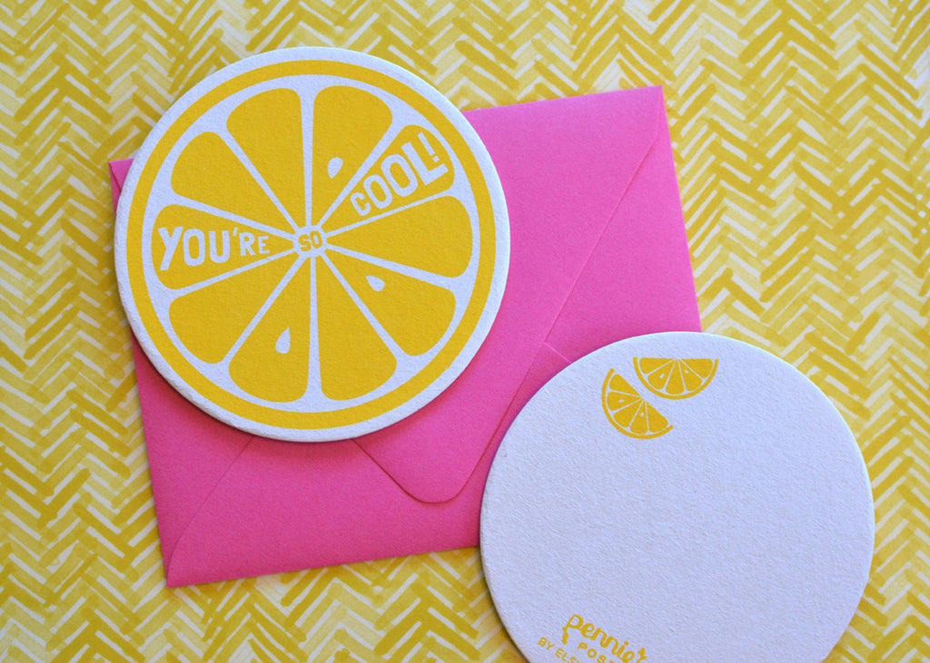 You're So Cool Lemon Coaster Card