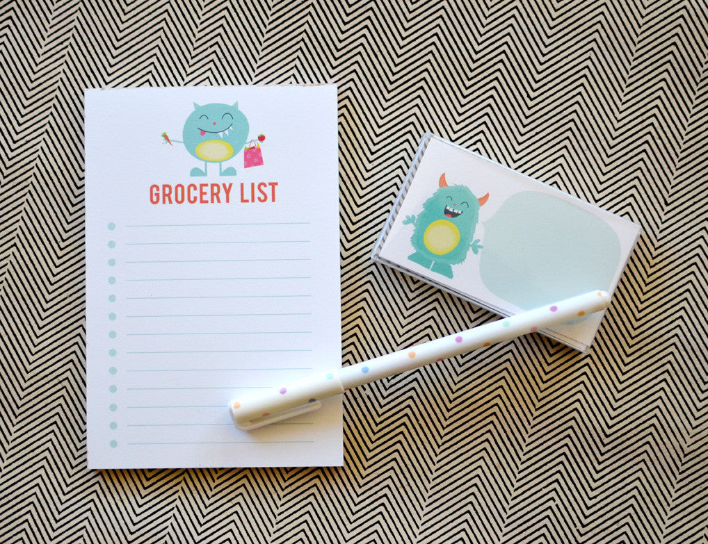Monster Notepad and Mini Note Gift Set