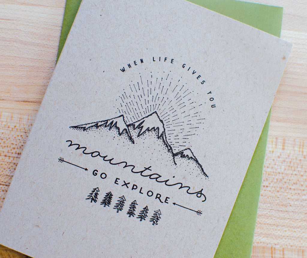 Mountain Adventure Card