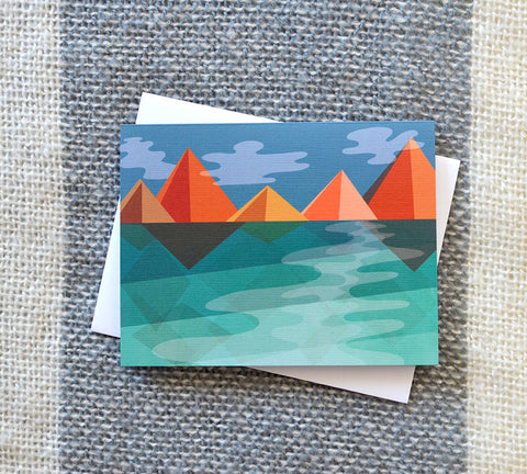 Fall in the Mountains Card