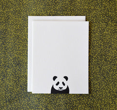 Letterpress Panda Note Cards