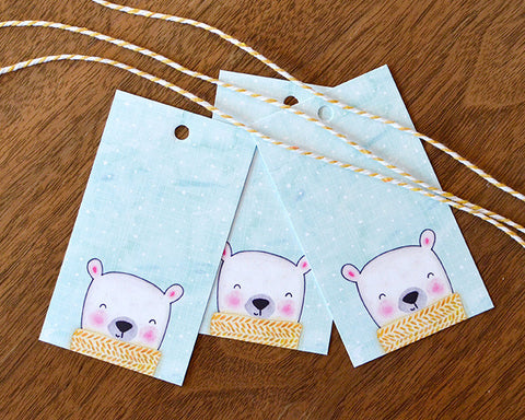 Polar Bear Scarf Holiday Gift Tags