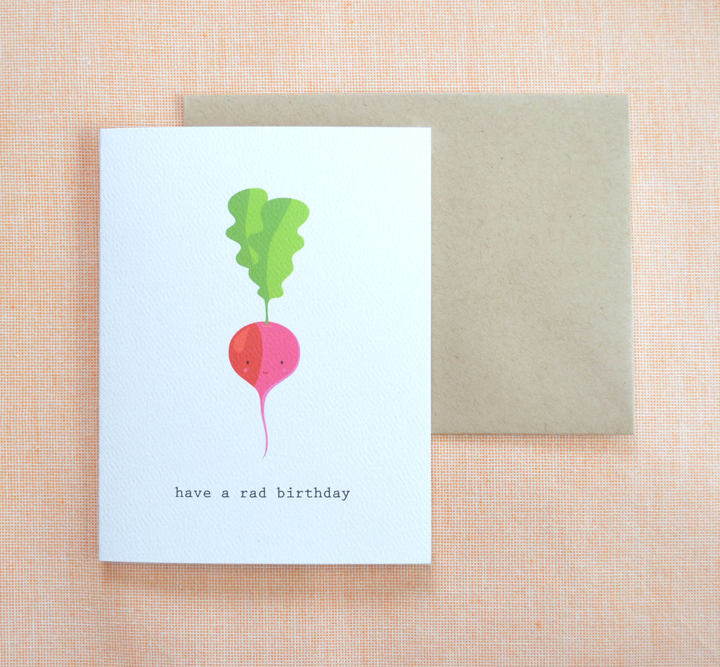 Have A Rad Birthday Card Radish