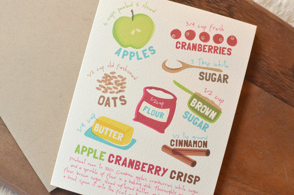 Apple Cranberry Crisp Recipe Card