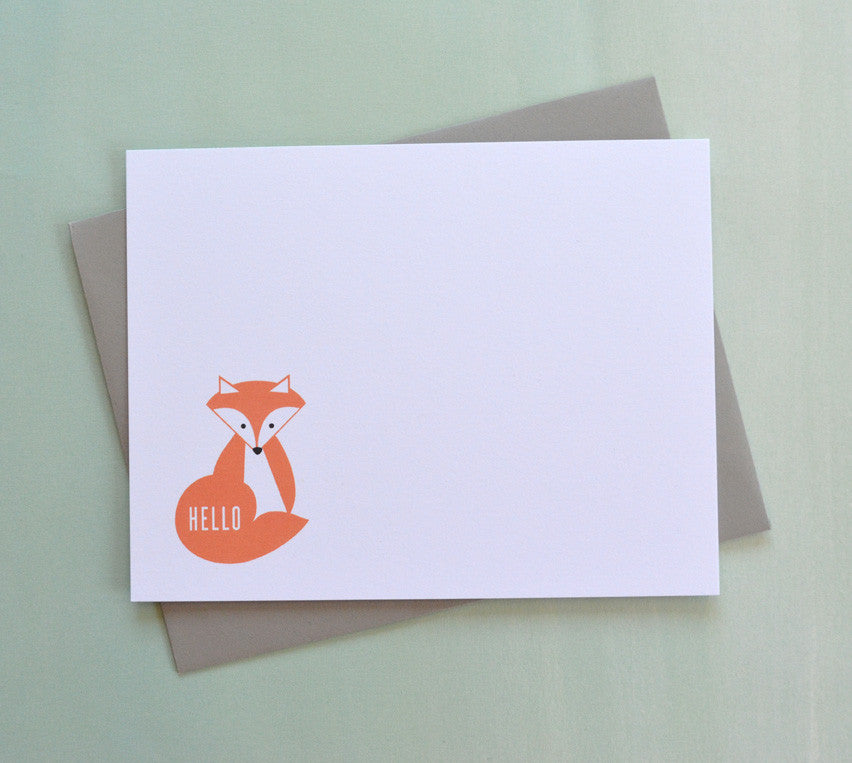 Red Fox Hello Note Cards
