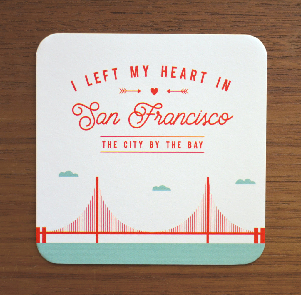 Set of 8 San Francisco Golden Gate Bridge Coasters