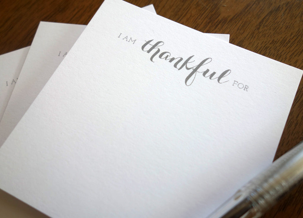 Thankful Note Cards Thanksgiving