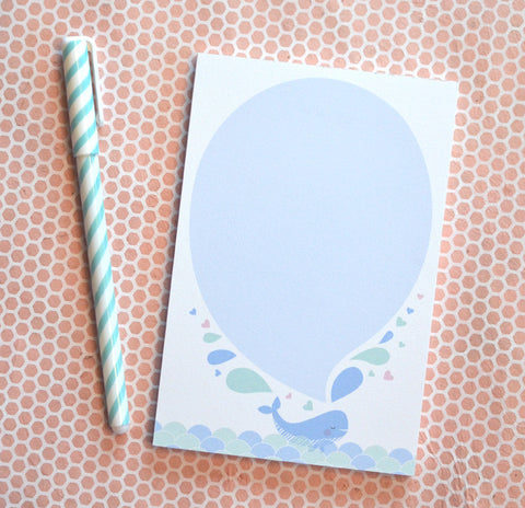 Whale Spout Notepad