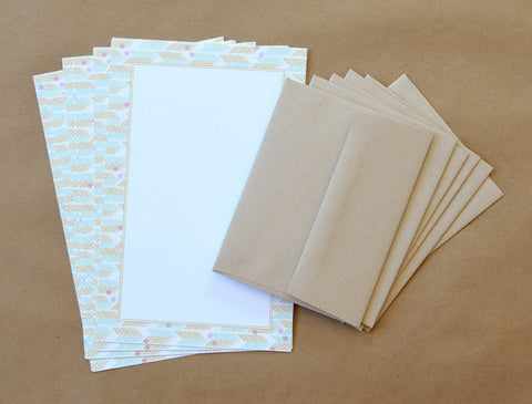 Patterned Writing Paper Set