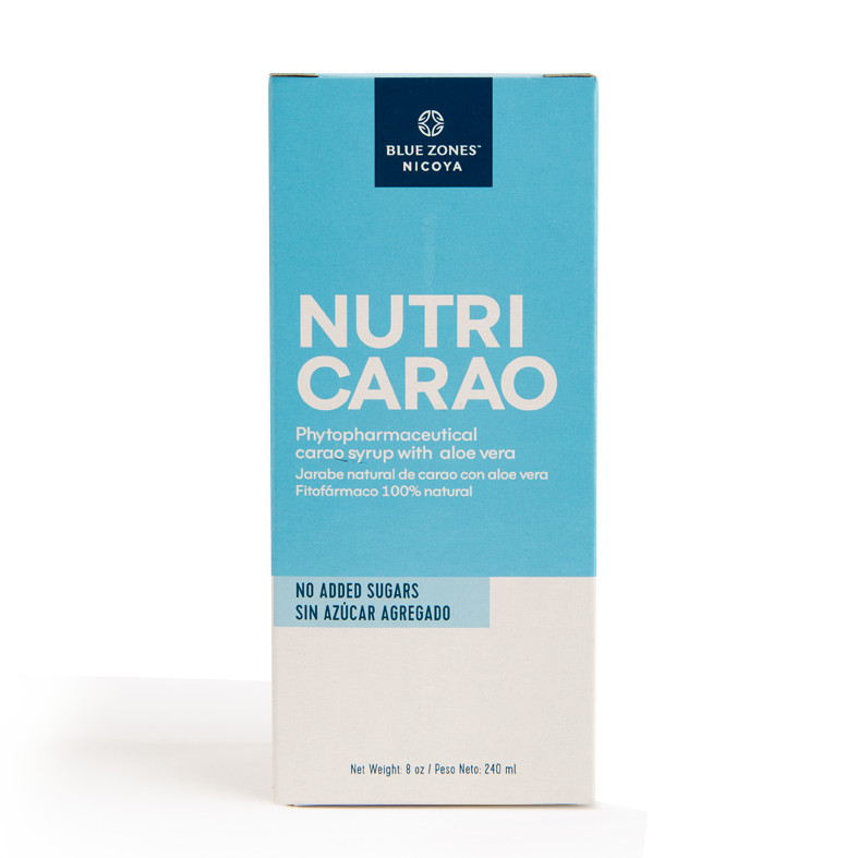 BLUE ZONES NICOYA JARABE NATURAL NUTRICARAO SIN AZUCAR BOTELLA 240 ml