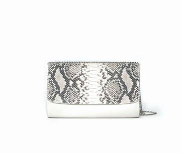 Deco Faux Snake Clutch