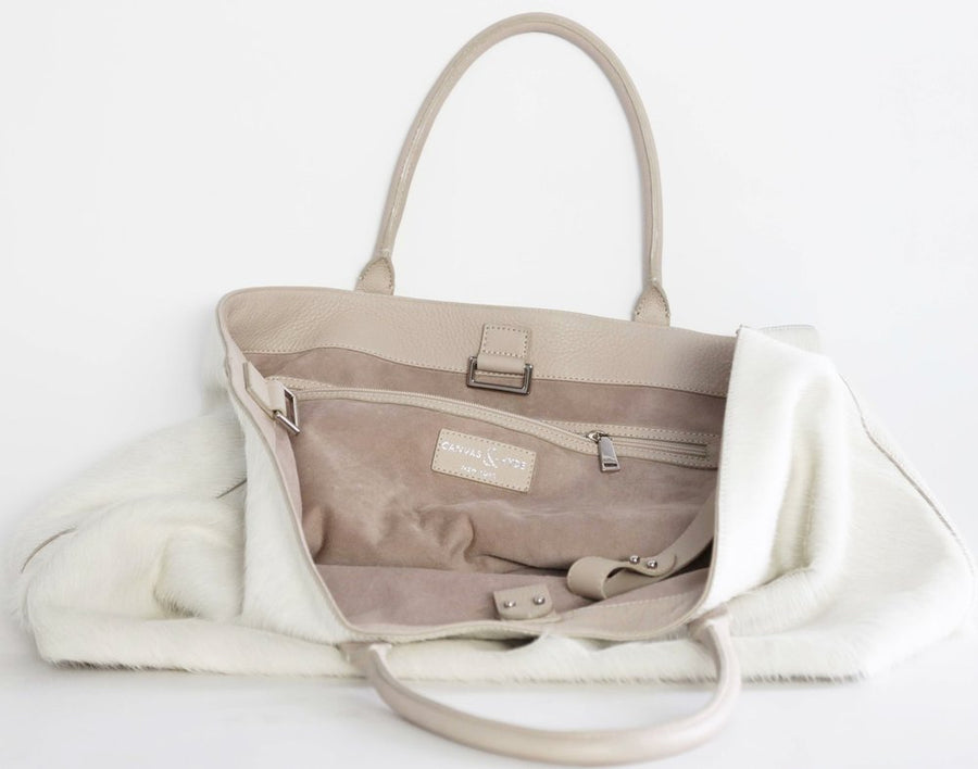 Monaco Weekender in Ivory - Canvas & Hyde NYC