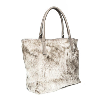 Aspen Day Tote in Champagne (Shaggy) - Canvas & Hyde NYC