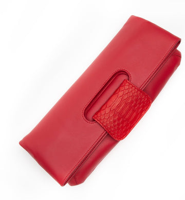 Florentine Folding Clutch in Red