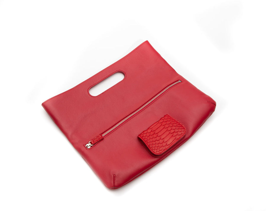 Florentine Folding Clutch in Red - Canvas & Hyde NYC