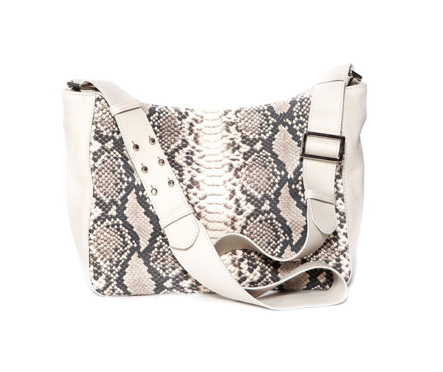 SHONAGH Mini Crossbody Beige w Faux Snake - Canvas & Hyde NYC