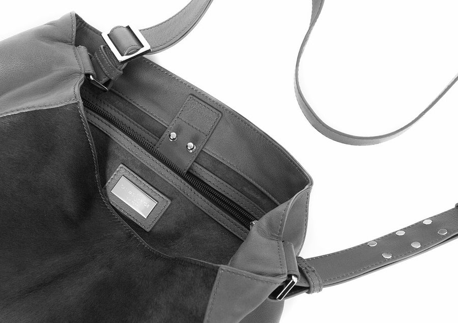 EMILY Mini Crossbody Grey w Grey Pony