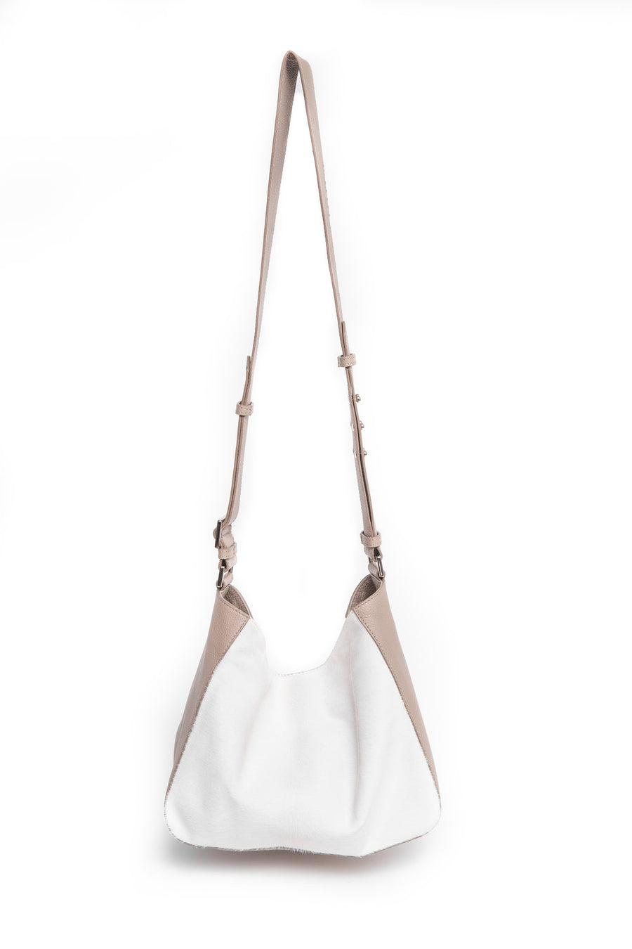 RITA Mini Crossbody Taupe w Ivory - Canvas & Hyde NYC