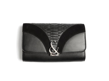 Paris Deco Clutch w Amp - Canvas & Hyde NYC