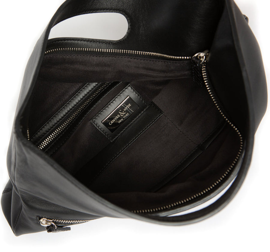 Florentine Folding Clutch in Black - Canvas & Hyde NYC