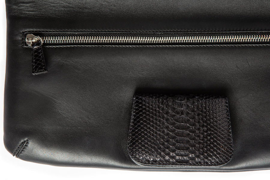 Florentine Folding Clutch in Black