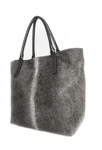 Aspen Day Tote in Grey - Canvas & Hyde NYC