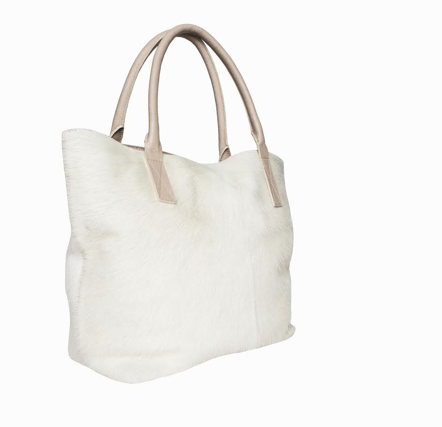 Aspen Day Tote in Ivory - Canvas & Hyde NYC