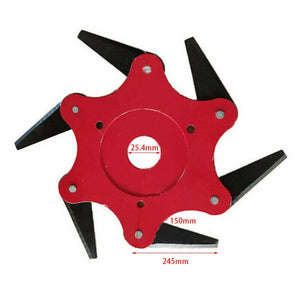 6 STEEL BLADES TRIMMER HEAD