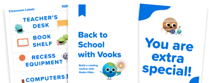 Pages from three classroom kits overlapping one another.