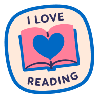 A sticker with the text I Love Reading