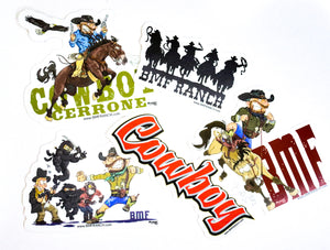 Cowboy Sticker Pack (Five Stickers)