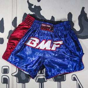 Signiture BMF Red White and Blue Muay Thai Shorts