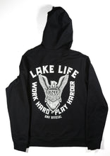 Load image into Gallery viewer, Black BMF Lake Life Zip Up Hoody