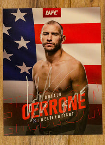 "Signed ""UFC""Mini Poster"