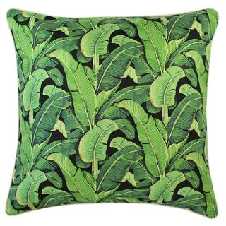 Cushion Cover-With Piping-Banana Leaf Black-60cm x 60cm