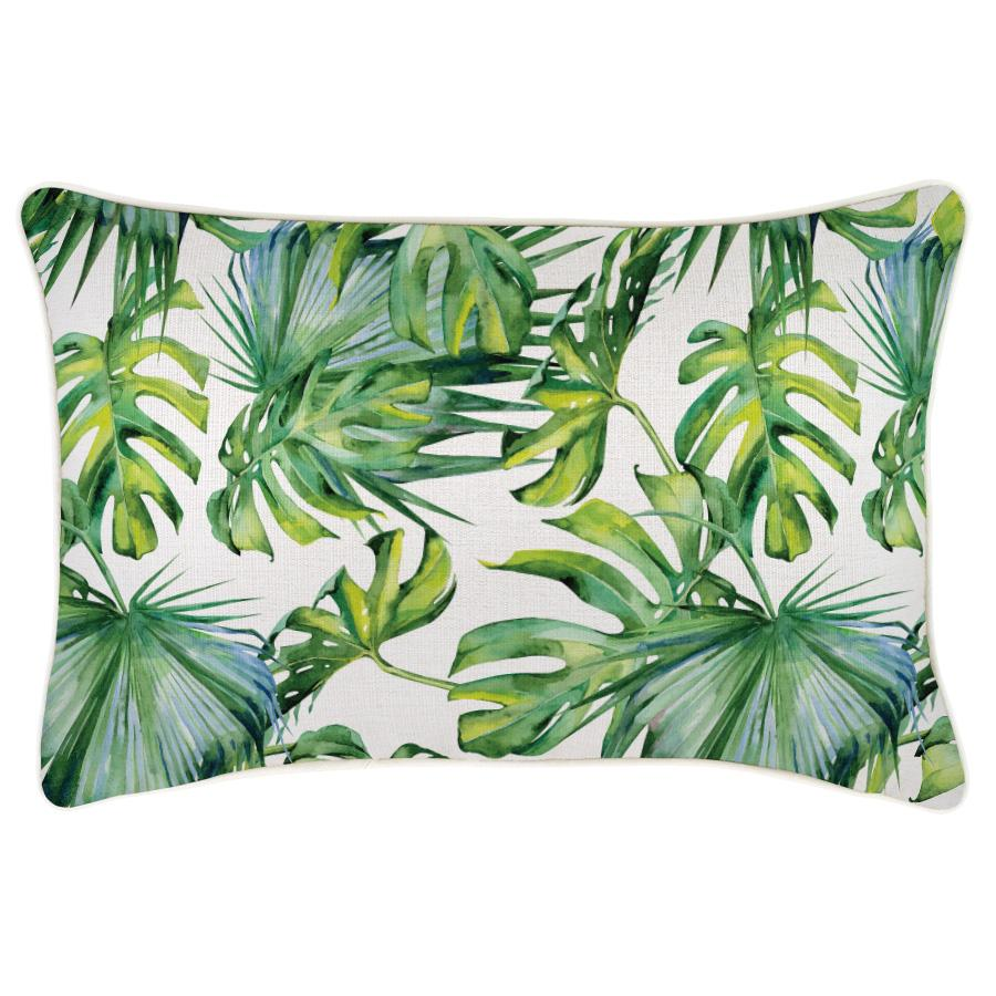 Cushion Cover-With Piping-Botanical Natural-35cm x 50cm