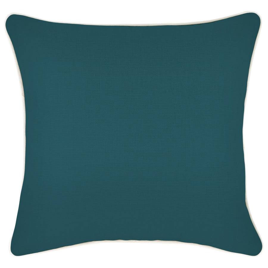 Cushion Cover-With Piping-Solid Teal-45cm x 45cm