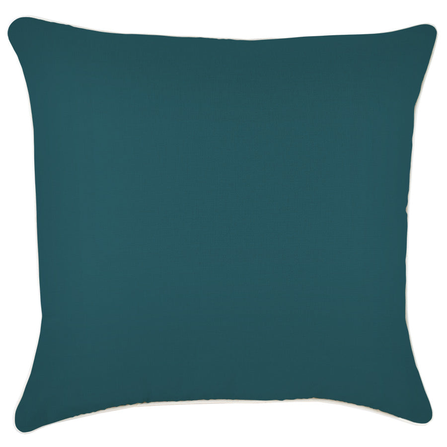 Cushion Cover-With Piping-Solid Teal-60cm x 60cm