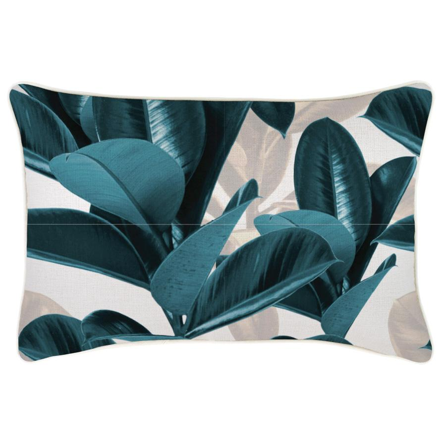 Cushion Cover-With Piping-Lux Teal-35cm x 50cm