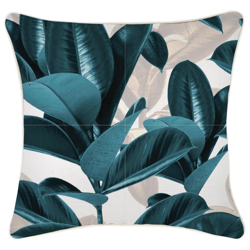 Cushion Cover-With Piping-Lux Teal-45cm x 45cm