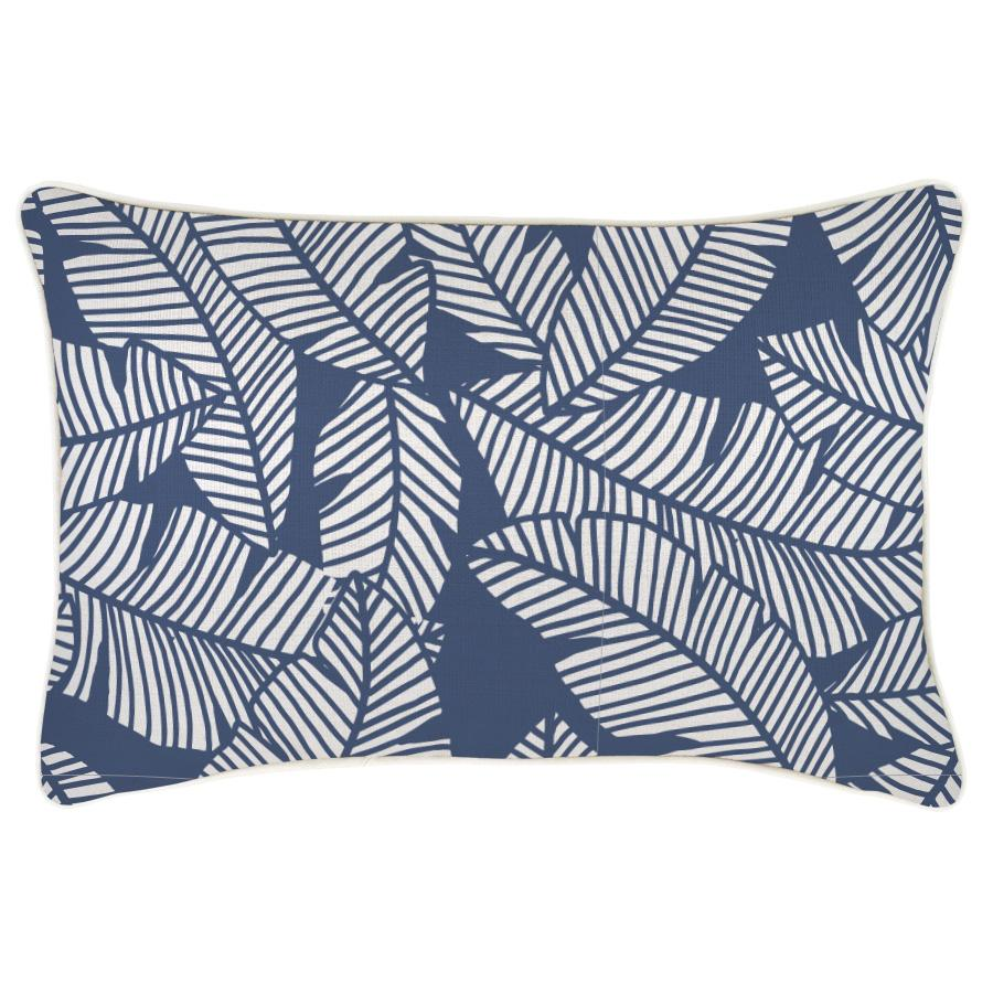 Cushion Cover-With Piping-Islander Blue-35cm x 50cm