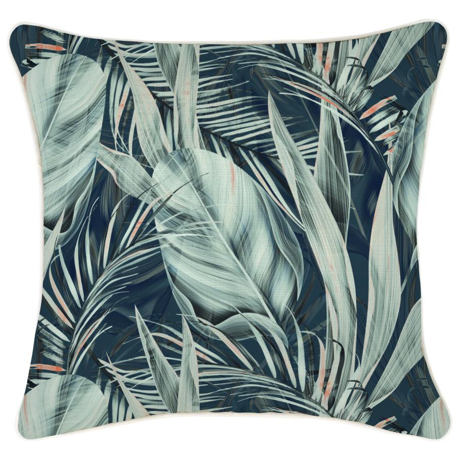 Cushion Cover-With Piping-Poolside Blue-45cm x 45cm